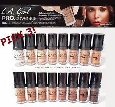 LA GIRL Pro Coverage HD Long wear Foundation - Full Coverage *PICK 3 Shades!*