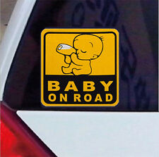 2Pcs Reflective Auto Car Decal BABY ON BOARD Yellow Graphic Vinyl Sticker