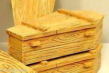 """Casket """"Pine Box"""" Miniature 1/24 Scale G Scale Diorama Accessory Item"""