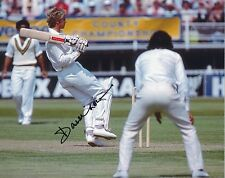 DAVID GOWER In Person Signed 10x8 Photo Proof CRICKET Legend COA