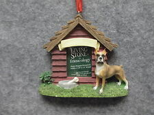 ENCORE Living Stone Frame-ology Photo Dog House Magnet Ornament Boxer