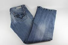 ReRock for Express Distressed Boot Cut Jeans...size 8S  GUC