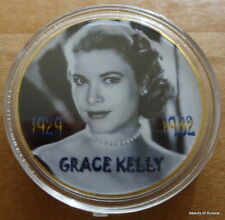 GRACE KELLY SUPER STAR   1 oz .gold plated Commemorative COIN  #1 SE