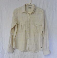 Maison Scotch La Femme Salon Marie Button Front Ivory Linen Dress Shirt Sz 1 EUC