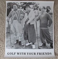THE THREE STOOGES GOLF WITH YOUR FRIENDS MINT ROLLED POSTER CURLY MOE LARRY