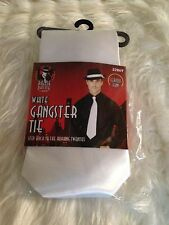UNISEX 1920's GANGSTER MOB AL CAPONE WHITE TIE FANCY DRESS COSTUME ACCESSORY