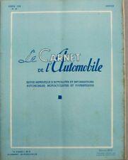 Le carnet de l'automobile n°49 - 1956 - La cote 56 - Eugène Renaux - Lyon Guigno