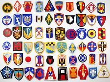 60 US Army All Different Full Color Military Unit Sew-On Patches Lot #660
