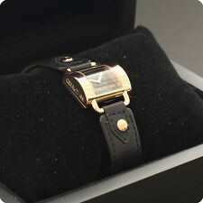 New Ladies Cerruti La Luna Watch Black Dial Rose Color