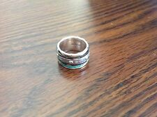"""SILPADA - R3137 - Patina Brass Sterling Silver """"Isabella Spinner"""" Ring, Size 9.5"""