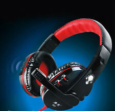 NEW Pro Gaming Game Stereo Headphones Headset w/ Mic For PC Computer Laptop