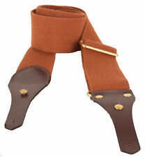 """BISLEY 2"""" ENGLISH CANVAS AIR RIFLE SLING WITH LEATHER"""