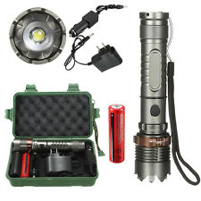8000LM Tactical XML T6 LED Flashlight Torch Light Lamp + 18650 Battery + Charger