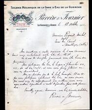 """LA GUERCHE-sur-AUBOIS (18) TUILERIE de la GARE d'EAU """"RIVOIRE & FOURNIER"""" 1912"""
