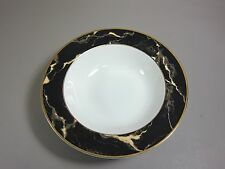 "Mikasa Fine China TRAVERTINE BLACK 10 1/4"" Round Vegetable Bowl EXCELLENT"