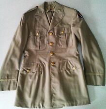 Vintage WWII Army Air Corp Officers Jacket Tan w/Pins
