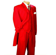 Red suit man's evening dress length ball gown and the groom dress custom