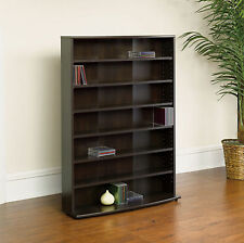 Sauder O'Sullivan Multimedia CD DVD Media Adjustable Shelves Storage Tower Rack