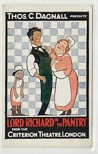 """LORD RICHARD IN THE PANTRY"": Theatre advertising postcard (C12913)"