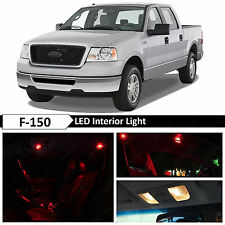15x Red Interior LED Lights Package Kit for 2004-2008 Ford F-150 F150 + TOOL