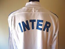 INTER MILAN OFFICIAL LICENSED NIKE N98 JACKET WHITE MENS LARGE NEW