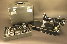 Vintage 1948 Singer Featherweight 221-1 Sewing Machine iwth Case and Accessories