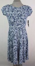 American Living Blue Floral A-Line Dress Women's Size Small K502