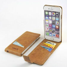 For Apple iPhone 6/6s Premium Genuine Leather Wallet Case Slim Top Flip Cover