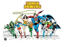 1988 Super Powers TEAM Model Art : Justice League Supergirl Batgirl Wonder Woman