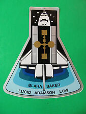"Nasa Space Shuttle Sticker Blaha Baker Lucid Adamson Low. 4 1/2"" Tall"