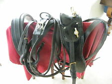 English Black Leather Driving Harness with Patent Saddle Cob Size