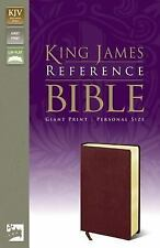 KING JAMES REFERENCE BIBLE - Burgundy Bonded Leather-Personal Size - Large Print