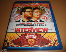 THE INTERVIEW kim jung un BLU RAY seth rogen LIZZY CAPLAN james franco RAN PARK