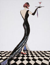 Cross Stitch Kit ~ Design Works Beautiful Woman Glamour Black Dress #DW2495