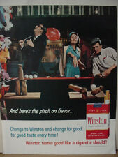 1965 Winston Cigarettes People have fun at Carnival Fair Vintage Print Ad 10597