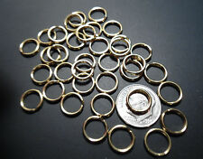 "25 Split Key Rings  5/16"" ID - SOLID BRASS ~ POLISHED"