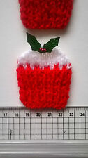 4 x Christmas Cup Cakes + Holly & berries Card Scrapbook Embellishments Toppers