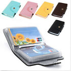 24 Cards Men Women Leather Pocket Business ID Credit Card Wallet Holder Bag Case