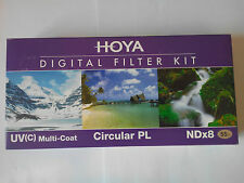 HOYA 55 mm DIGITAL FILTER FILTRE KIT : UV(C) MULTI-COAT CIRCULAR PL NDx8