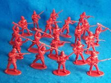 ZULU Wars, BRITISH 24th foot Infantry (Red) 20 figures in 4 poses (54MM)