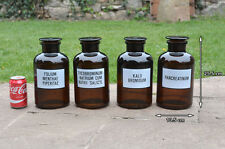 Vintage laboratory bottles old glass medicine chemist  bottle science bottles x4