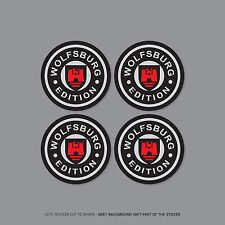 SKU2256 - 4 x vw wolfsburg cabochon roue alliage stickers badges voiture - 60mm