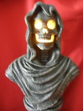 LARGE SKULL REAPER TALKING - LIGHTED BUST STATUE HALLOWEEN DISPLAY PROP - HORROR