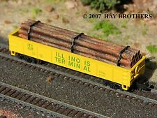 Hay Brothers BANDED RUSTY PIPE LOAD - fits 40 / 40+ foot Gondolas and Flatcars