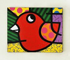 ROMERO BRITTO POP ART NEO VOGEL POSTER PLATTE 4