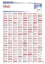 DESKMATE Office Stamp RED INK - Choose your own title 1x Only stamp at Checkout