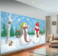 SNOWMEN JUGGLING Scene Setter Christmas holiday party wall decor kit 5' Frosty