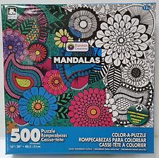 LB KARMIN® 500pc COLOR•A•PUZZLE Adult MANDALAS Coloring PUZZLE Jig Saw 500 PC