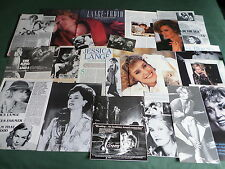 JESSICA LANGE - FILM STAR - CLIPPINGS /CUTTINGS PACK