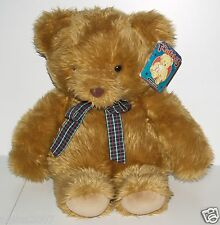 "Vintage Tagged FAO F.A.O Schwarz 18"" Truffles Brown Teddy Bear Checked Bowtie"
